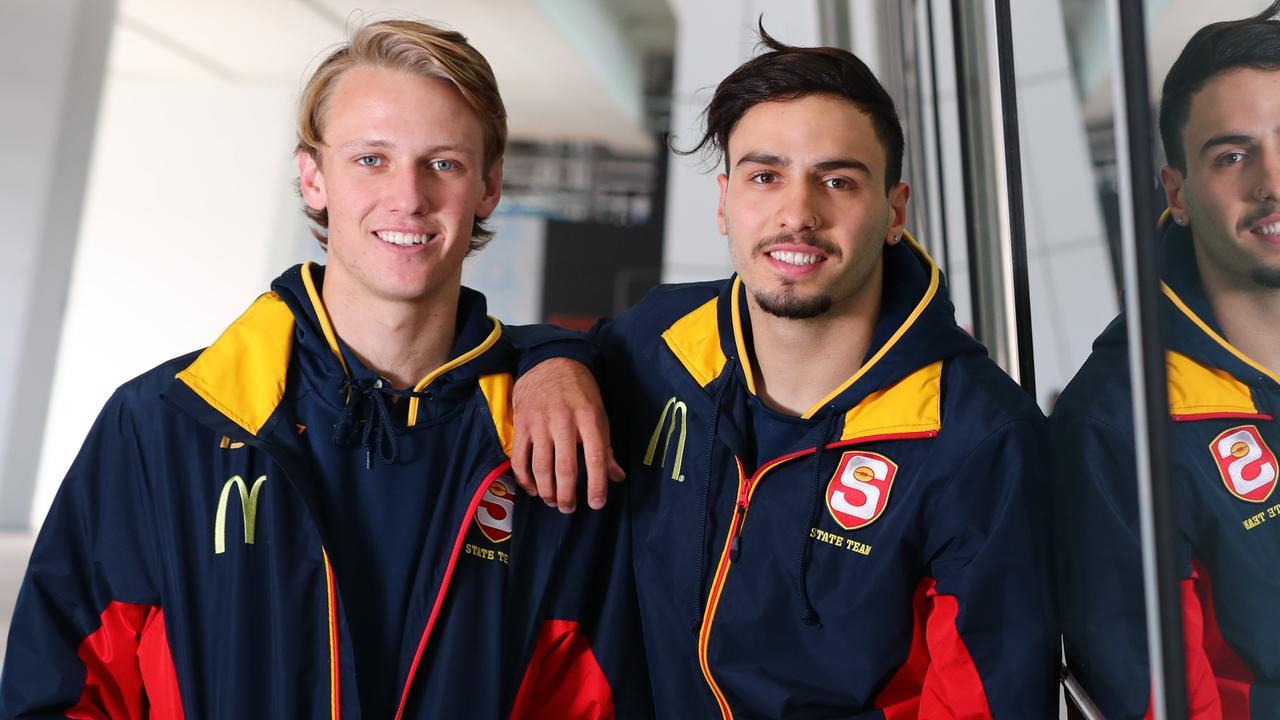 SA U18 football stars Jack Lukosius and Izak Rankine. Picture: Tait Schmaal
