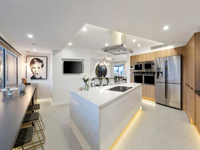 Dean and Shay flipped their kitchen to give it city views. Picture: realestate.com.au