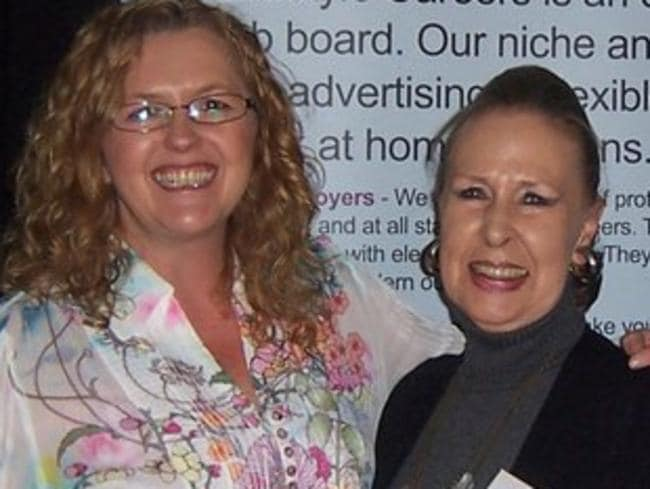 Leah at a seminar with mother Lyn Greenrod, who runs her own business.