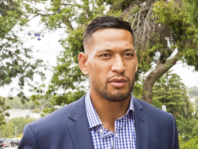 Former Australian rugby star Israel Folau.
