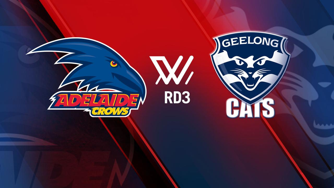 Adelaide v Geelong in AFLW.