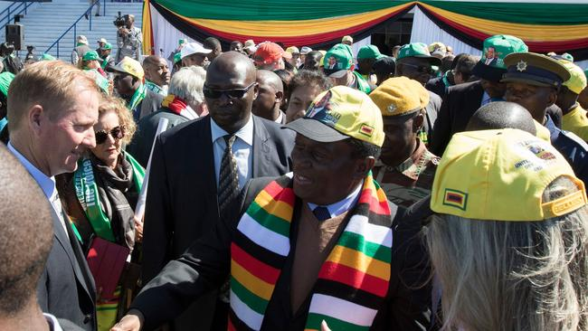 Zimbabwean President Emmerson Mnangagwa is never seen without his scarf these days.