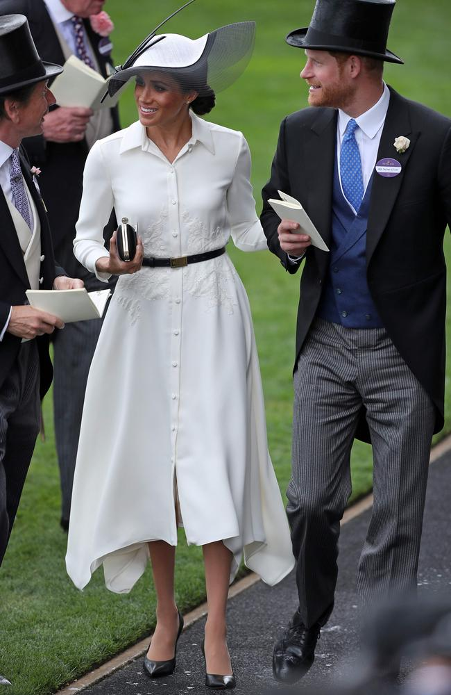 Meghan wore a white Givenchy dress. Picture: Daniel Leal-Olivias/AFP