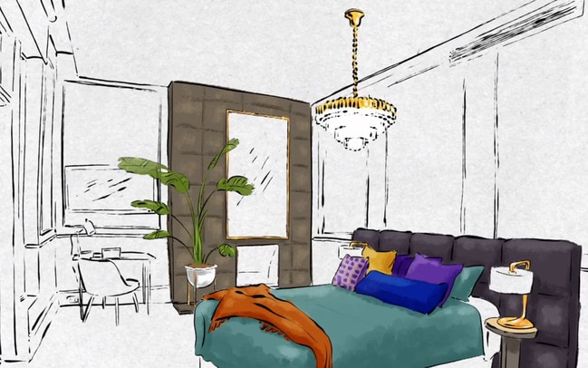 Mitch and Mark's bedroom will have a chandelier. Picture: Channel 9