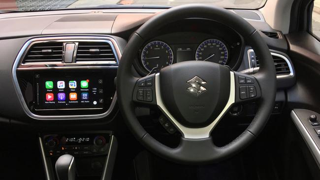 The 2016 Suzuki SX4 S-Cross Turbo sports an updated touchscreen.