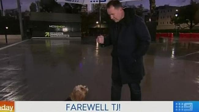Teej and his diva cavoodle Archie bid farewell.