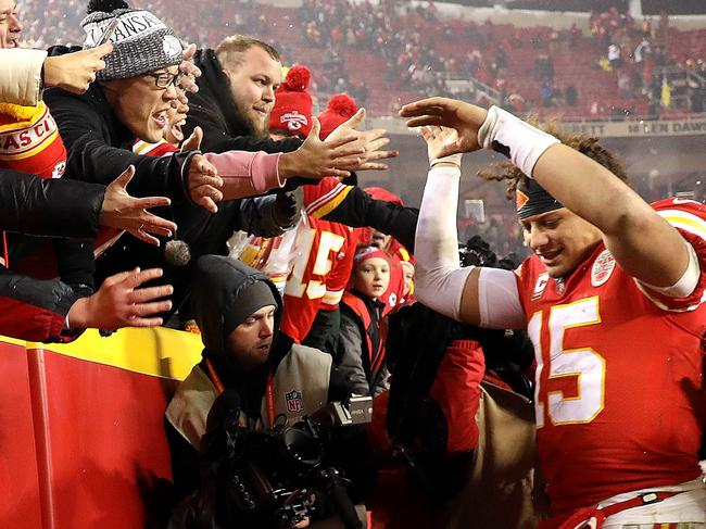 The Chiefs fans hope Mahomes can break the 50-year wait for a Super Bowl win.