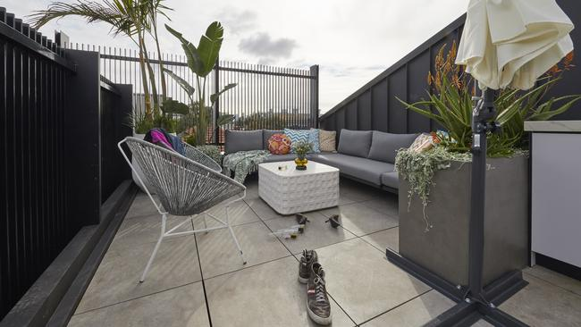 Mitch and Mark copped flak over the 'trashy' design on their terrace.