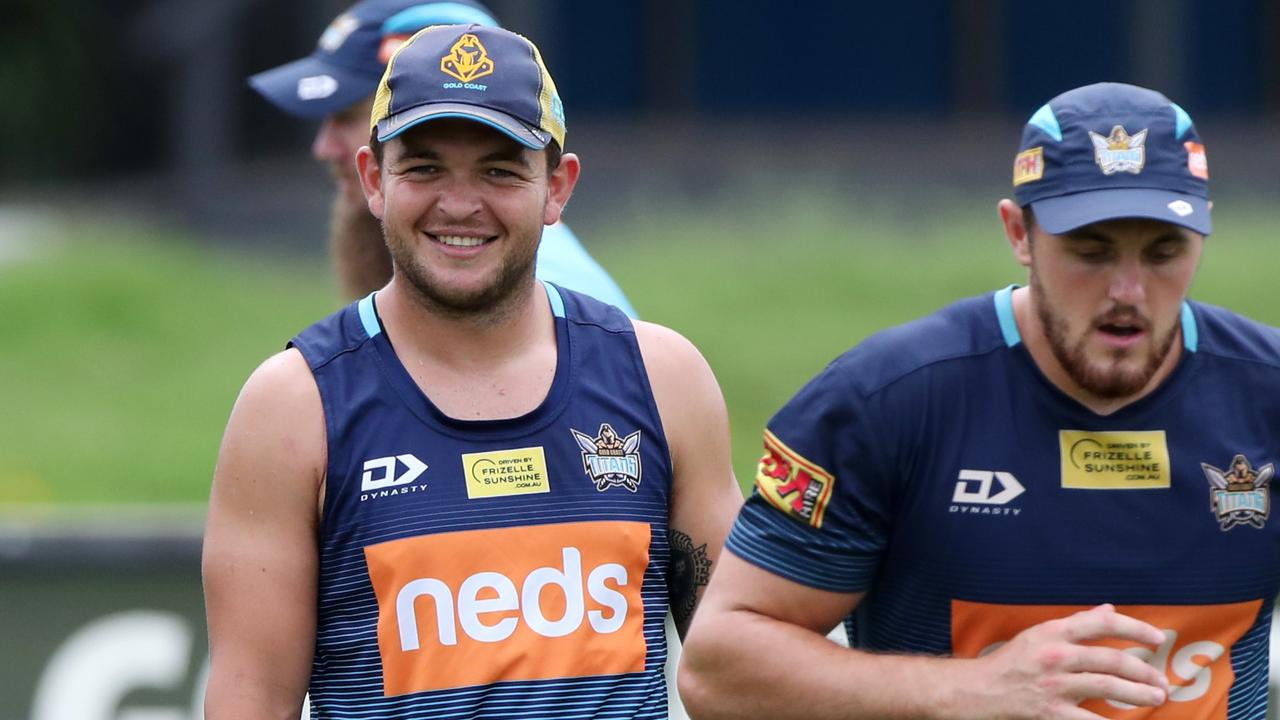 Gold Coast Titans halfback Ash Taylor. Picture: NIGEL HALLETT