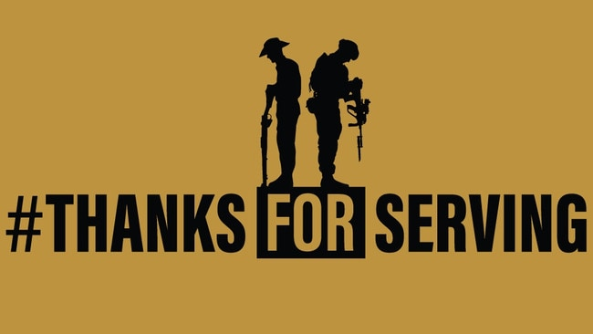 Thanks For Serving. Picture: Supplied