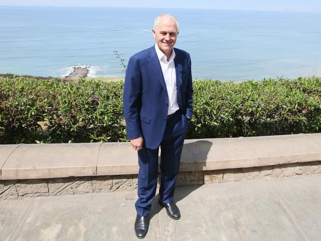 Malcolm Turnbull has played down Peter Dutton's controversial comments while in Peru before attending the 2016 APEC summit. Picture: Kym Smith.