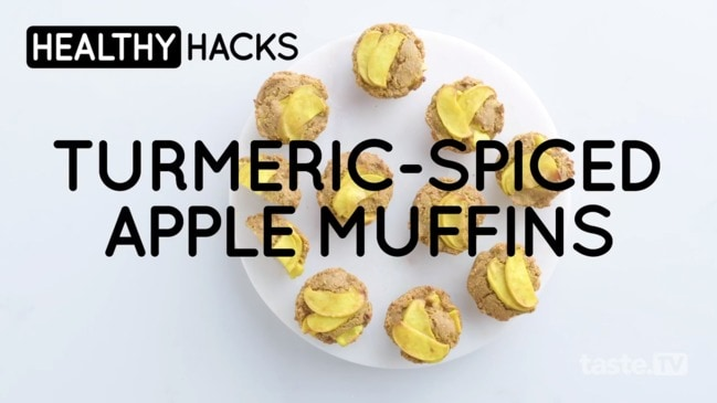Tumeric Spiced Apple Muffins