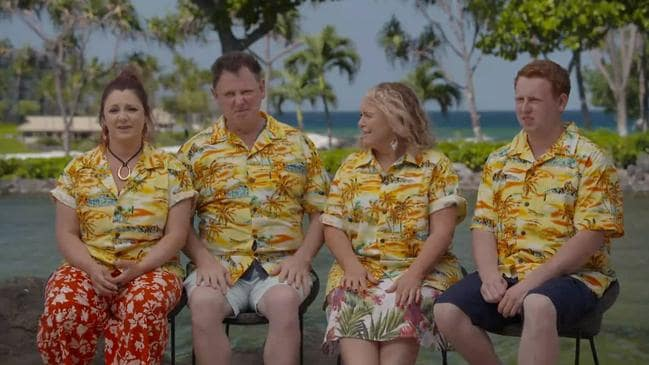 The Fren family visited Hawaii this season. Picture: Channel 9