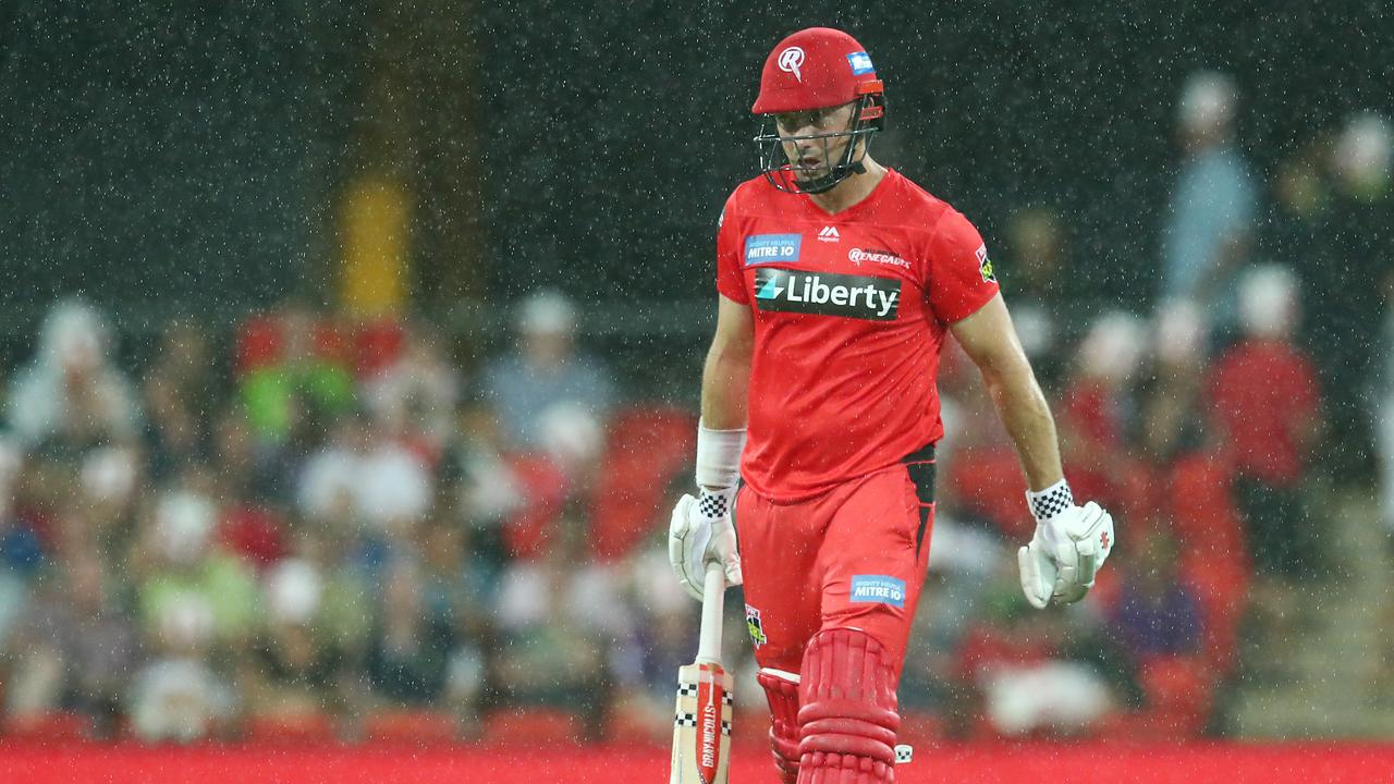Shaun Marsh of the Renegades leaves the field. (Photo by Chris Hyde/Getty Images)