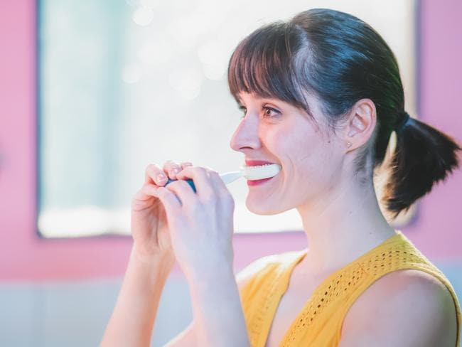Y-Brush operates like an electric toothbrush but claims to clean your teeth in 10 seconds.