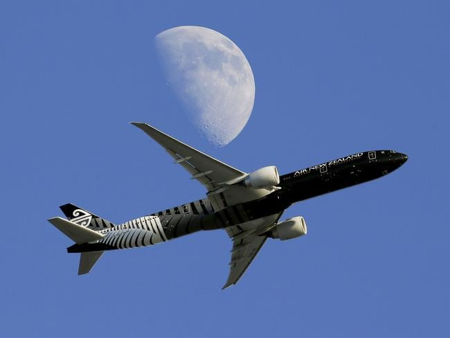 An Air New Zealand plane.