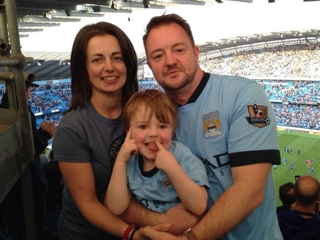 Joanne Finch, Lee Moran and their son Brodie.