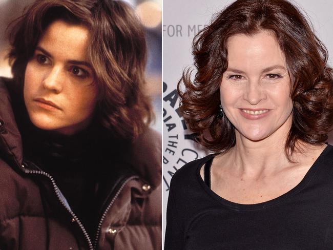 Ally Sheedy in 1985, and in 2015.