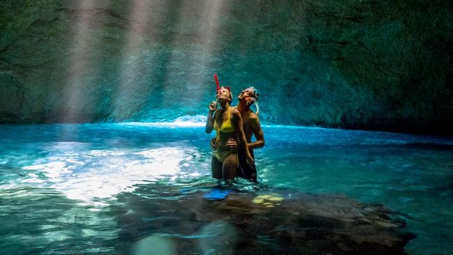 Tnana's Blue Cave is one of wonders. Picture: David Kirkland