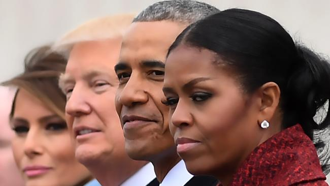 Ms Obama admits she failed to take Mr Trump's presidential run seriously. Picture: AFP Photo/Jim Watson