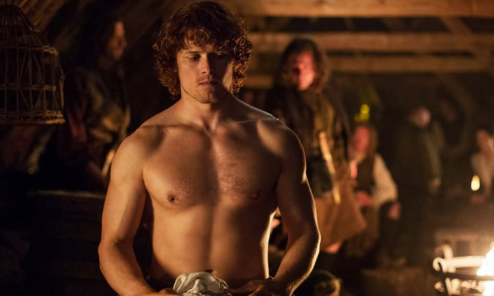 The sighs of mums across the globe can be heard every time Jamie whips his shirt off and it's not surprising with a chest and six-pack like this. Partner that with his Scottish drawl and he had us at Ay.