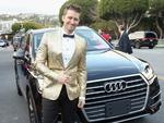Matthew Morrison arrives in an Audi Q7 to the 25th Annual Elton John AIDS Foundation's Oscar Viewing Party at The City of West Hollywood Park>> at The City of West Hollywood Park on February 26, 2017 in West Hollywood, California. Picture: Getty