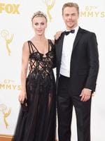 Julianne and Derek Hough attend the 67th Annual Primetime Emmy Award in Los Angeles. Picture: Getty