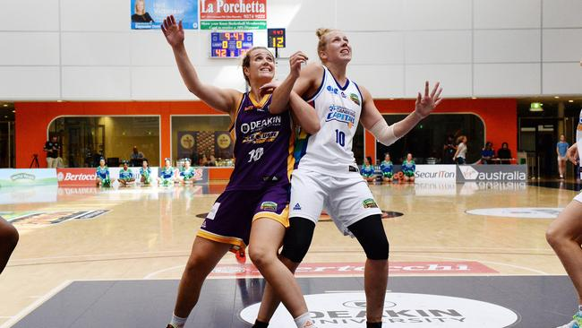 Abby Bishop (right).