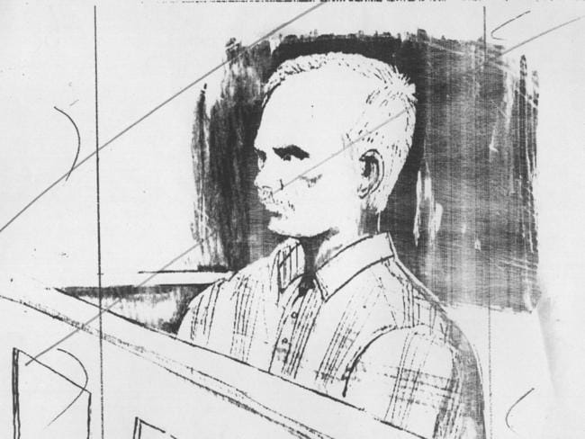 A sketch of Paul Anthony Evers from his trial.