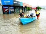 Reagan Stockham and Picture: Nick Palka with boat in Charters Towers Road. Hermit Park. Picture: Evan Morgan