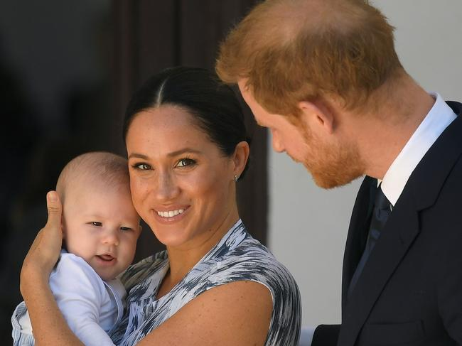 Prince Harry, Duke of Sussex and Meghan, Duchess of Sussex and their baby son Archie Mountbatten-Windsor. Picture: Getty