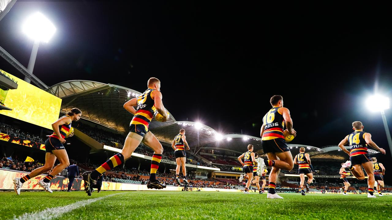 Fans returned to Adelaide to watch the Crows against the St Kilda Saints. Picture: Daniel Kalisz