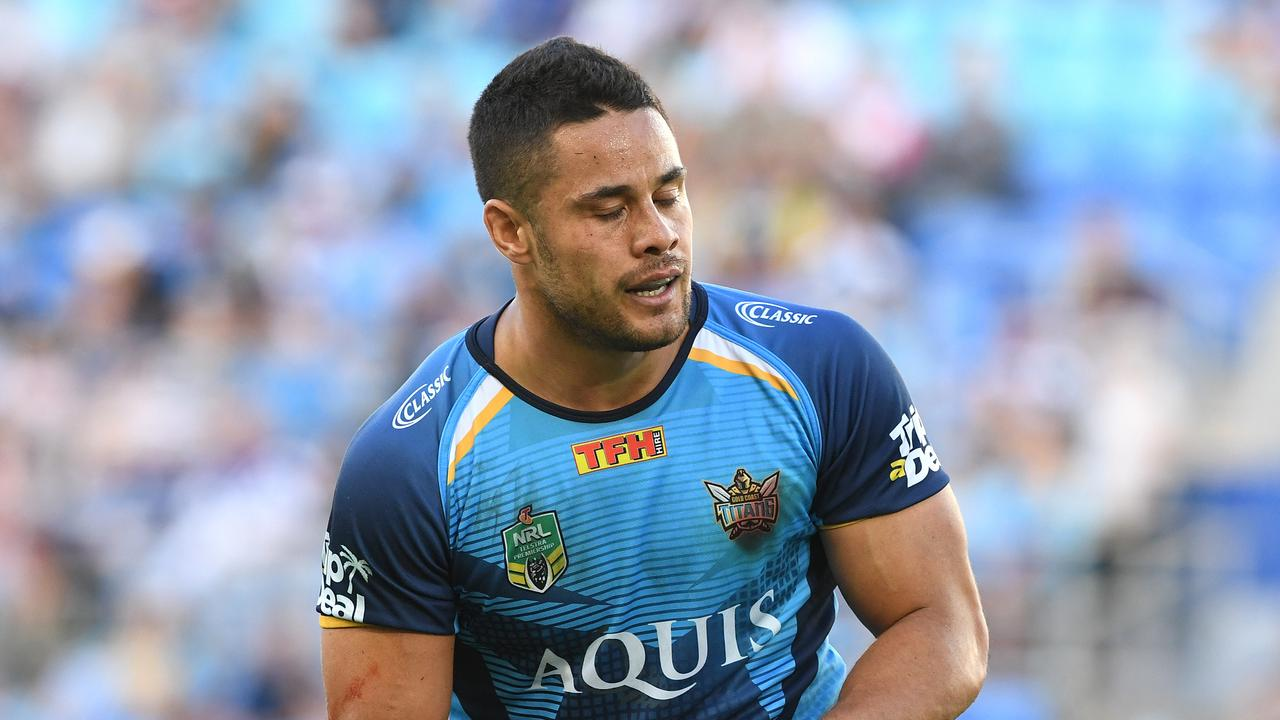 Jarryd Hayne during his ill-fated spell with the Titans