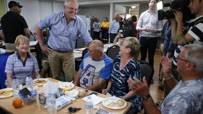 Mr Morrison says the response from residents has been 'quite inspiring'. Picture: Darren Pateman/AAP