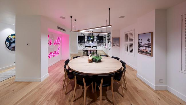 """The sign lit up the room and gave it a """"St Kilda"""" vibe. Source: The Block"""