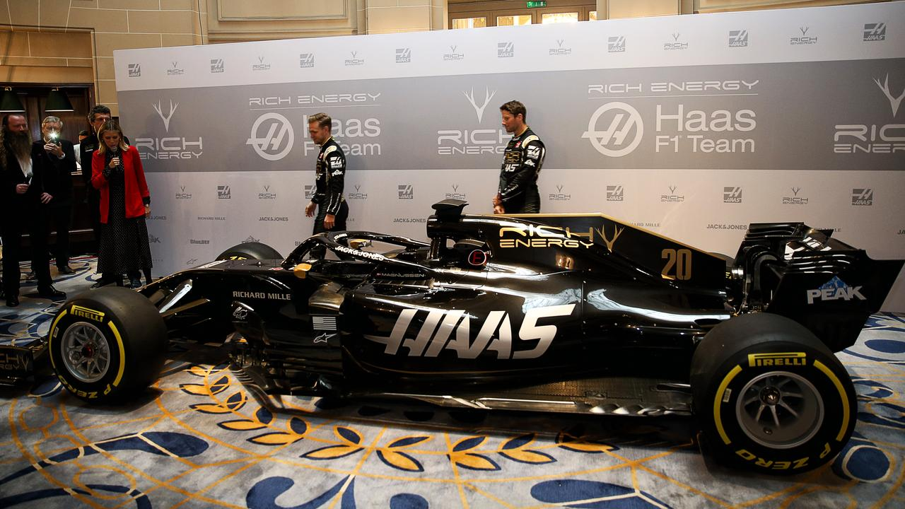 Haas' new livery is cool, yet stylish.