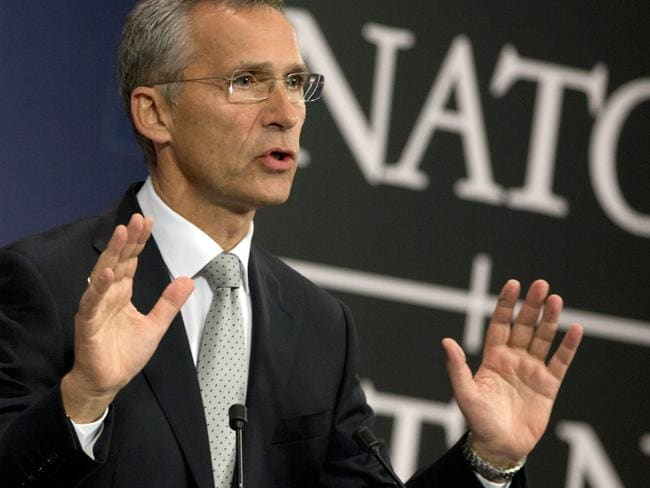 NATO Secretary-general Jens Stoltenberg warned the airspace violation did not appear to be an accident. Picture: Virginia Mayo/AP