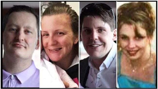 The Dreamworld victims; Roozi Araghi, Kate Goodchild, Luke Dorsett and Cindy Low.