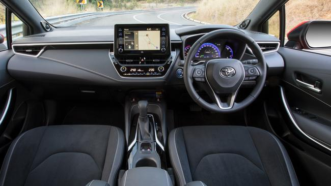Connectivity is still the Corolla's weak point. Picture: Supplied.