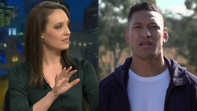 Sally Rugg snaps at Israel Folau comments in fiery Q&A debate
