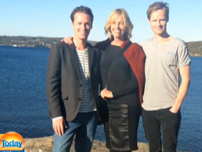 Thomas and Tori's mother Rowie are 'very very close'. Pic: Today Show/Nine Network