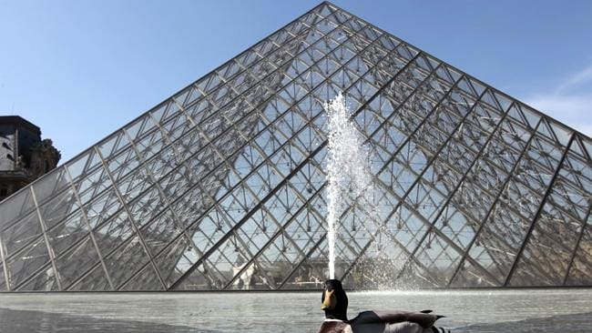 The pyramid of the Louvre Museum. Picture: AFP