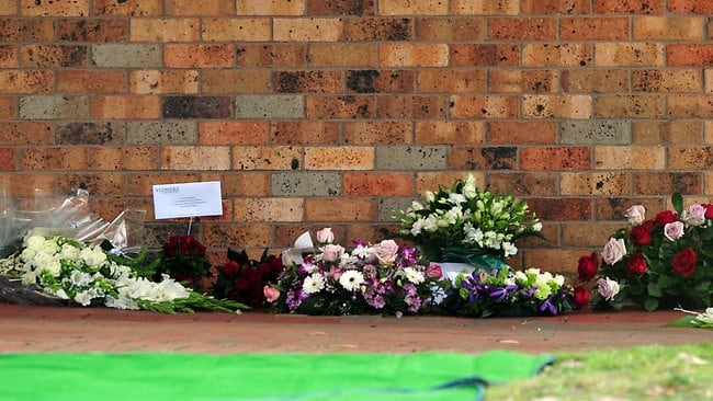Flowers for Jill Meagher at Fawkner Memorial Park. Picture: Nicole Garmston