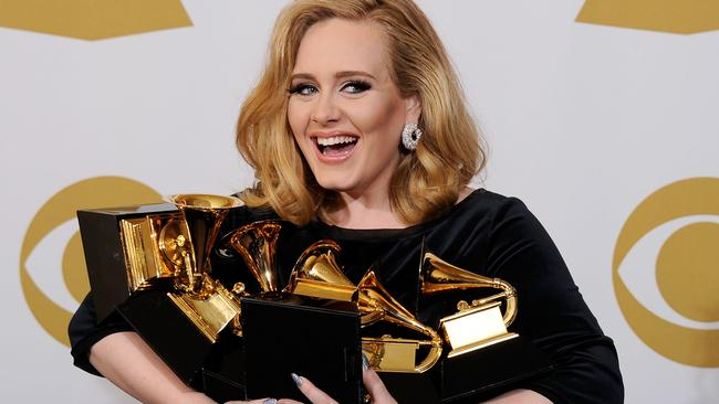 Adele is one of the best-selling female artists of the 21st century. Picture: Kevork Djansezian/Getty Images
