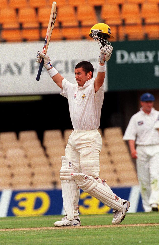 Ryan Campbell after scoring a century in the Sheffield Shield for WA against NSW.
