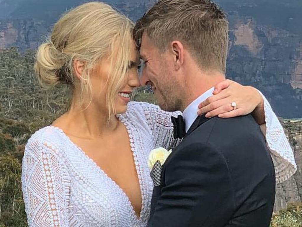 Kieren Jack's wedding. Picture: Instagram
