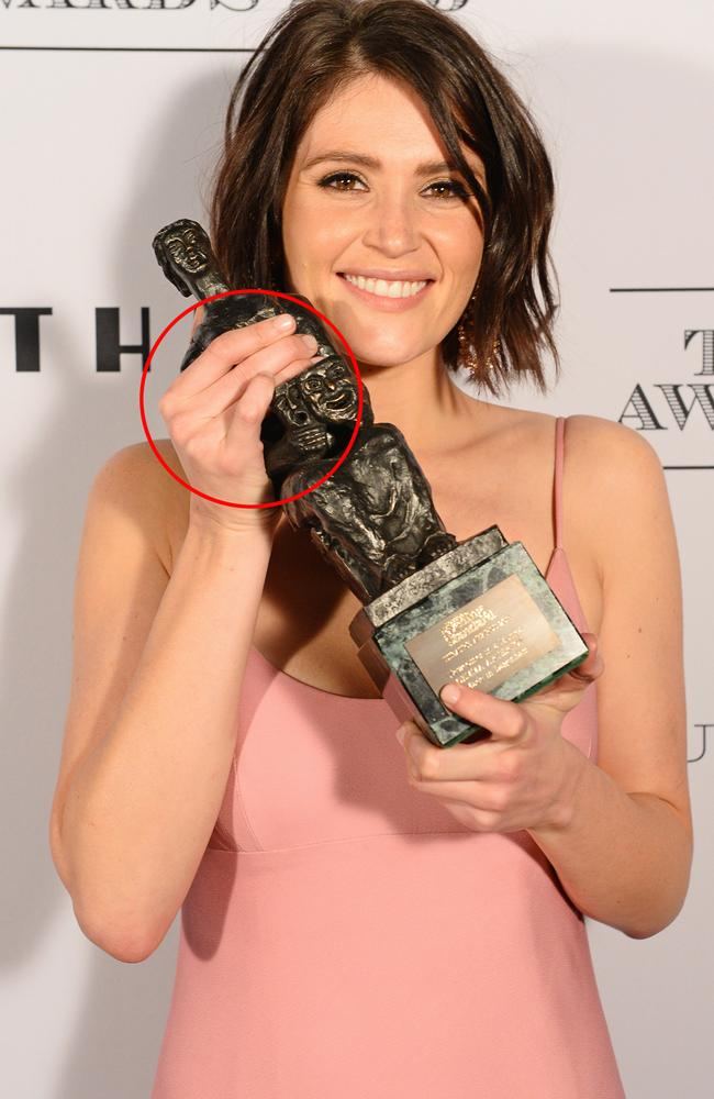 Barely a trace of Arterton's sixth finger remains.