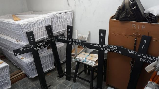 Crosses and coffins for Sukumaran and seven other prisoners confirmed Indonesia was serious about going ahead with the executions.