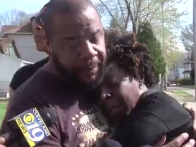 A man and woman believed to be the son and daughter of the victim tell reporters their slain father would 'give you the shirt off his back' as a manhunt ensues for Stephens.