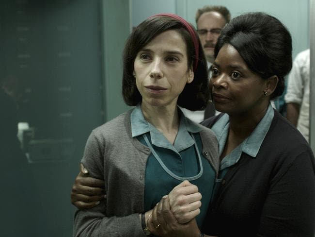 Sally Hawkins and Octavia Spencer both scored nominations in the hot favourite The Shape of Water. Picture: Fox Searchlight Pictures via AP